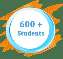 600 + Students